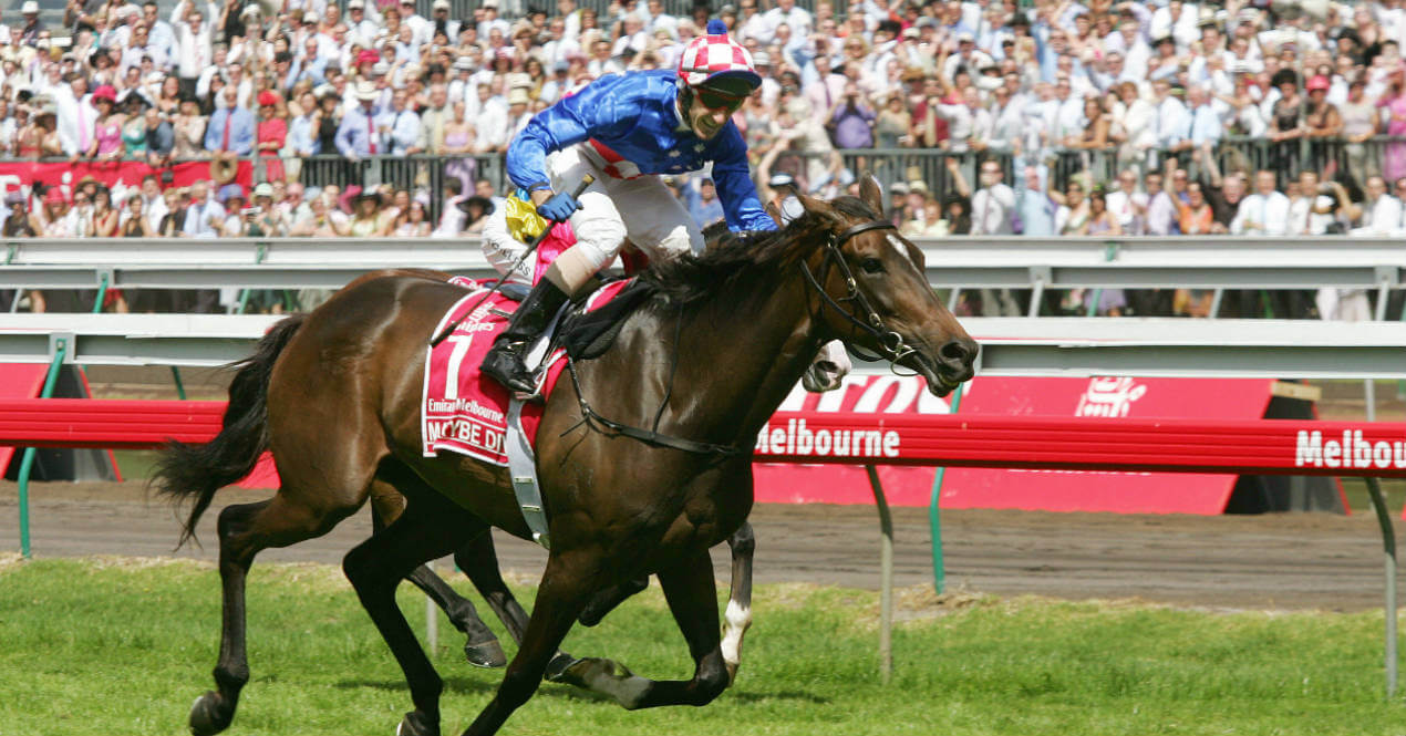Makybe Diva with Glen Boss Melbourne Cup November 1 2005