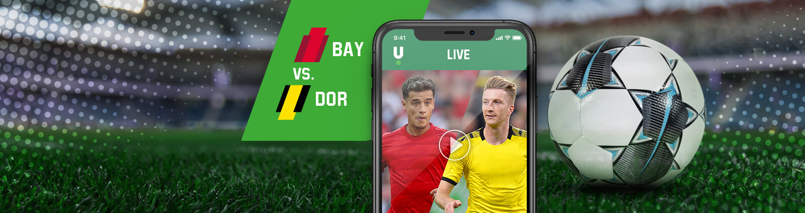 Promo page banner Unibet Football Bundesliga BAY vs DOR BE